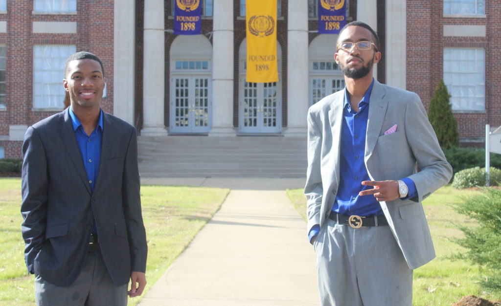 Octavious Rush (left) and Lamar Benefield. (Ariel Worthy, The Birmingham Times)