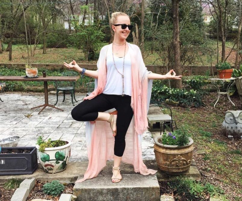 Morgan Jones Johnston, an artist and the owner of Woodlawn-based clothing store Club Duquette, is an avid yogi. (Provided photo)
