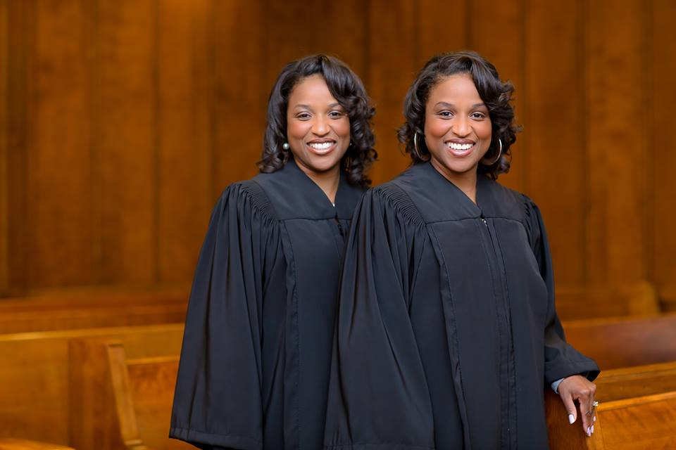 Judge Shanta Owens (left) and Judge Shera Grant inside the Jefferson County Courthouse. (Taneisha Tucker, special to The Times)