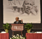 Keynote speaker J. Mason Davis. The Dr. Martin Luther King, Jr. Unity Breakfast held at the Birmingham-Jefferson Civic Complex in Birmingham Alabama Monday January 15, 2017. (Frank Couch / The Birmingham Times)