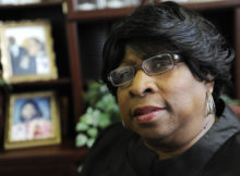 Rev. Deedee Coleman is set to mark her installation as the first female president in the Council of Baptist Pastors of Detroit and Vicinity. (ClarenceTabb Jr./Detroit News/Detroit News via AP)