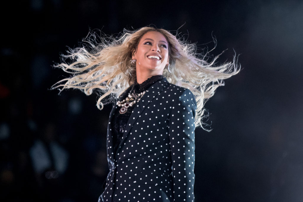 This Nov. 4, 2016 file photo shows Beyonce performing at a Get Out the Vote concert for Democratic presidential candidate Hillary Clinton in Cleveland. Beyonce announced on her Instagram account, Wednesday, Feb. 1, 2017, that she is expecting twins. (Andrew Harnik, Associated Press, File)