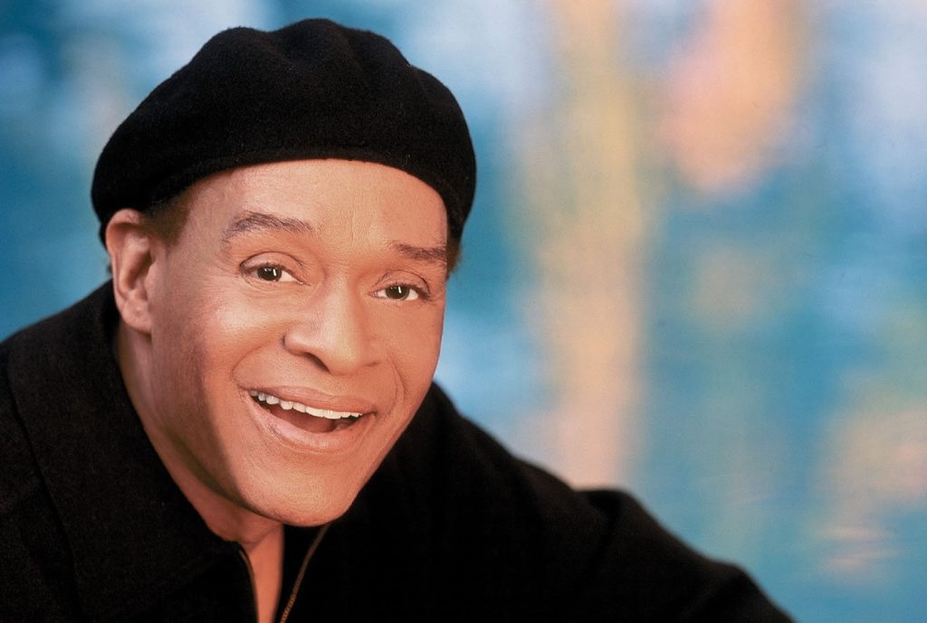"All Jarreau died days after announcing his retirement from exhaustion. Pictured: Al Jarreau on the cover of his 2008 compilation album, ""Love Songs."""