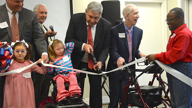 UCP of Greater Birmingham cut the ribbon to mark its new name of United Ability. (Karim Shamsi-Basha, Alabama NewsCenter)