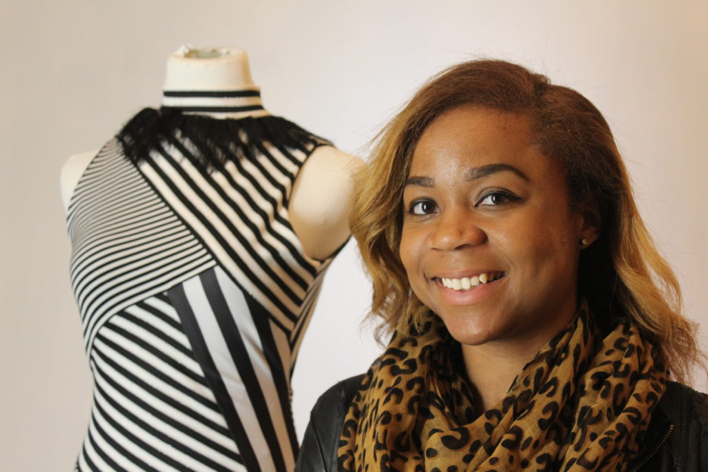 Ariel Smith, 24, formerly a geometry teacher at BCHS via Teach for America, has her own clothing line, Ariel, Inc. (Ariel Worthy, The Birmingham Times)