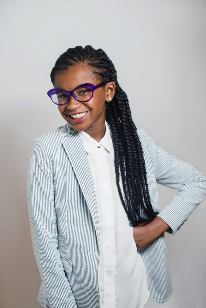 This photo provided by Scholastic shows Marley Dias. Scholastic told The Associated Press on Thursday, Feb. 2, 2017, that it had a deal with Marley Dias, whose hashtag #1000BlackGirlBooks is part of her mission to collect stories about women of color. Her book is not yet titled and is scheduled for 2018. (Andrea Cipriani Mecchi, Scholastic via AP)