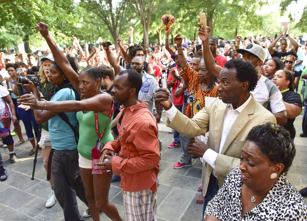 A Black Lives Matter Birmingham solidarity protest and march held at Kelly Ingram Park saw hundreds of people listen to speakers, chant and march to Birmingham Police Headquarters. (Frank Couch, special to The Times)