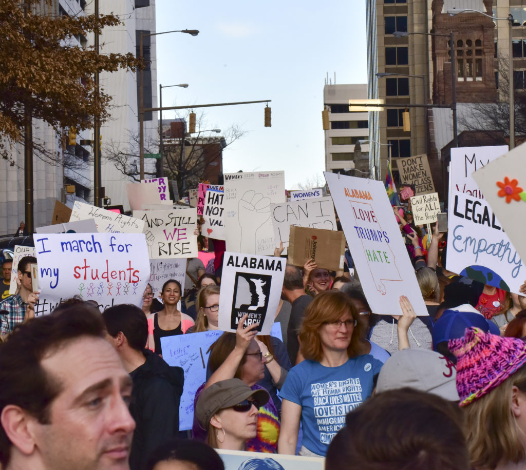 Thousands gathered in Kelly Ingram Park and marched in the Women's March Alabama. (Frank Couch, special to The Times)