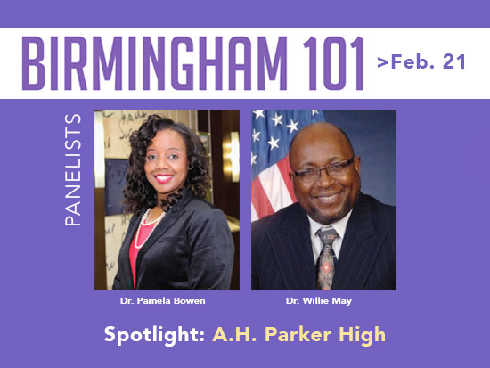 A panel of Parker High School graduates will honor the school's legacy on Tuesday, Feb. 21, in a discussion at UAB's Hill Student Center Ballroom. (Provided photo)