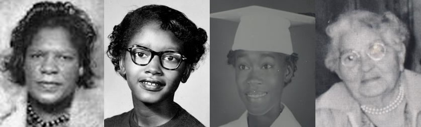 (From left) Aurelia Browder, Claudette Colvin, Mary Louise Smith and, Susie McDonald.