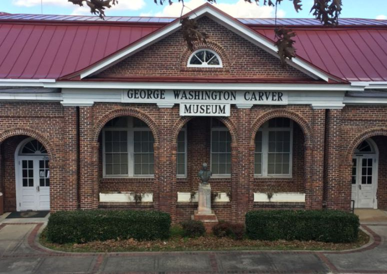 The George Washington Carver Museum is across from The Oaks. (Donna Cope, Alabama NewsCenter)