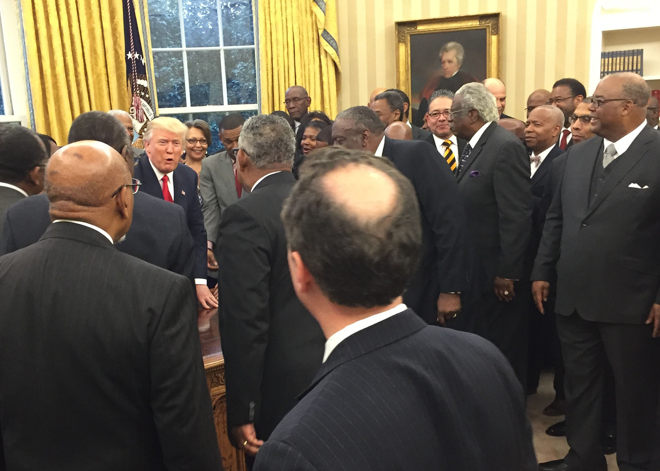 President Donald Trump meets with the presidents and chancellors from the nation's Historically Black Colleges and Universities. (Lauren Victoria Burke, NNPA)