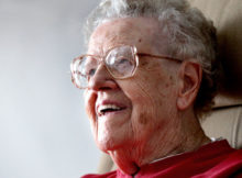 At  96, June Kjome, a retired nurse and progressive advocate, is sharing wisdom and lessons on life and aging. (Associated Press)