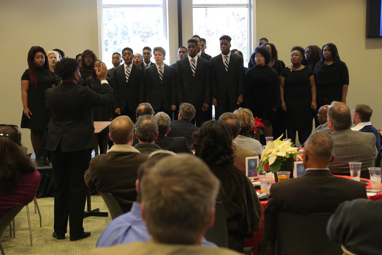 Restoration Academcy's chorale primarily sings sacred choral music, but also has gospel, secular songs, and even jazz in its repertoire. (Geoff Sciacca/photo)