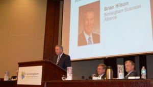 Birmingham Business Alliance CEO Brian Hilson speaks during the 2017 Regional Economic Growth Summit. (Michael Tomberlin, Alabama NewsCenter).