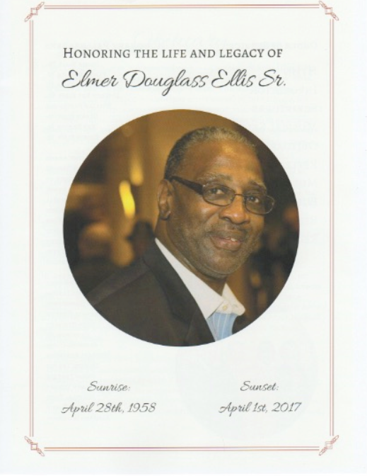 Elmer Douglass Ellis Sr. died at the age of 59.
