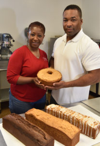 April and Lacy McClung Jr. at Emily's Heirloom Pound Cakes in Hoover. (Frank Couch The Birmingham Times)