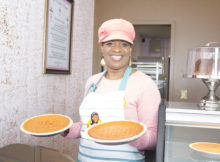 JaWanda's Sweet Potato Pies offers 13 variations of the popular dessert dish. (Reggie Allen, for The Birmingham Times)