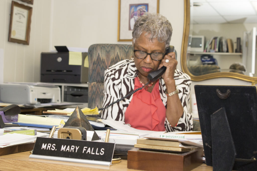 Mary Helen Falls is the CEO of Falls Janitorial Services, a black-owned cleaning service. (Reggie Allen, for The Birmingham Times)