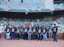 The Restoration Academy Chorale performed at a Birmingham Barons game. They will soon travel to New York. (Provided photo)