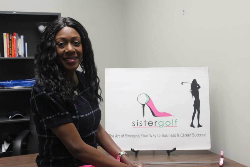 Shella Sylla is the owner of SisterGolf, which uses golf to help people use the sport to enhance business and personal relationship. (Ariel Worthy, The Birmingham Times)