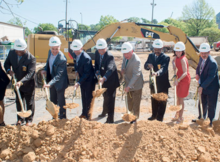 UAB President Ray Watts, UAB Police Chief Anthony Purcell and other officials break ground on the new, $8.2 million UAB Police Department Headquarters. (Provided photo)
