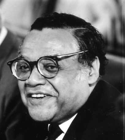 William Thaddeus Coleman, Jr., the 4th United States Secretary of Transportation, at a Cabinet meeting. Coleman served from March 7, 1975, to January 20, 1977. A famed civil rights lawyer, Coleman later was appointed to the United States Court of Military Commission Review, which heard appeals from the Guantanamo military commissions. Coleman died at age 96.  (Ford Library Museum/public domain)