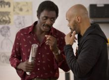 Idris Elba (left) as Kent and director John Ridley behind the scenes of 'Guerrilla,' which premieres on Showtime. (Provided photo)