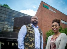Jervaughn Hunter and Nikea McMullen, both seniors majoring in biomedical engineering at UAB, will present their research at the 2017 Spring Expo on April 13. (UAB photo)