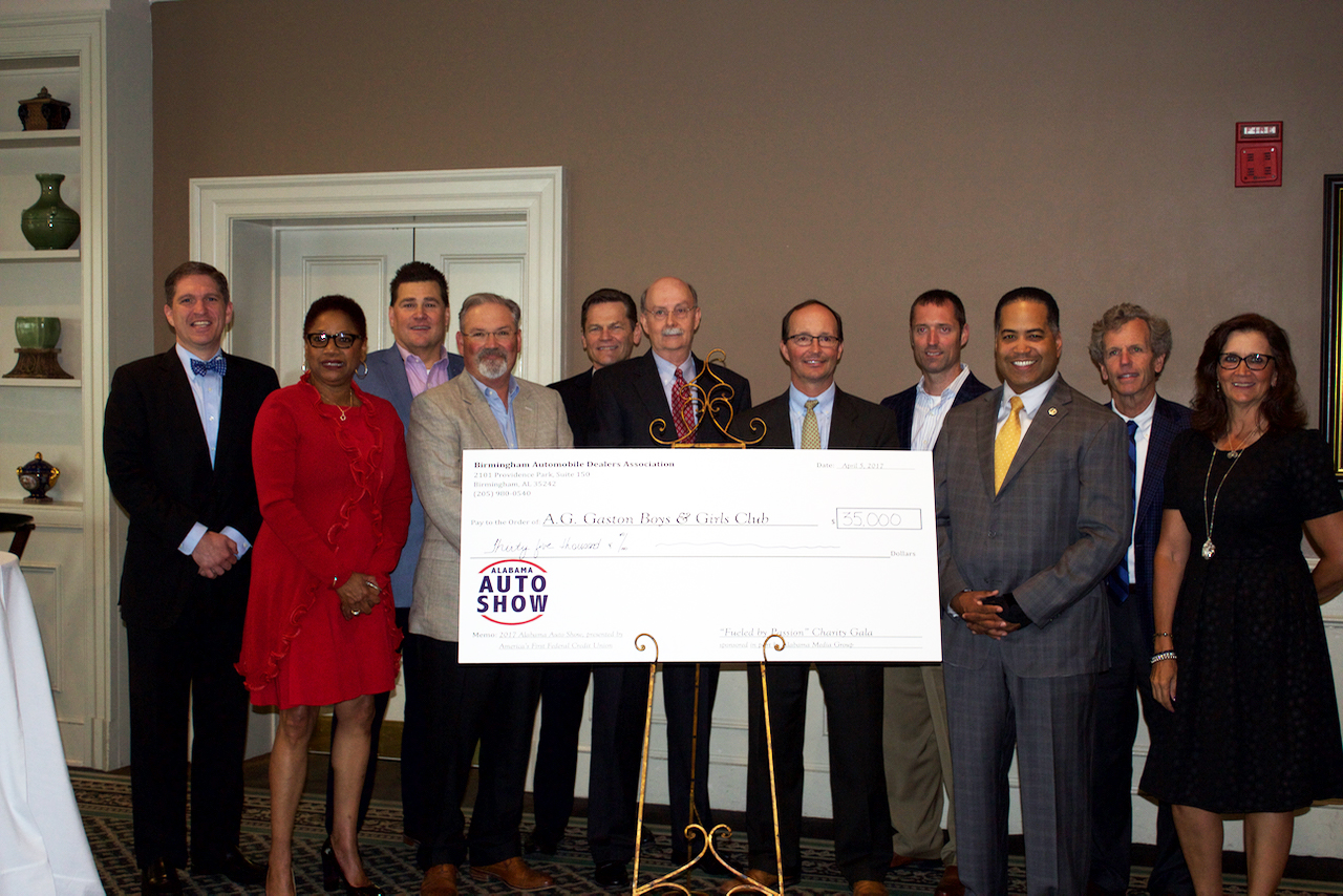 A.G. Gaston Boys & Girls Club was one of three charities to receive $35,000 each from Birmingham Automobile Dealers Association.