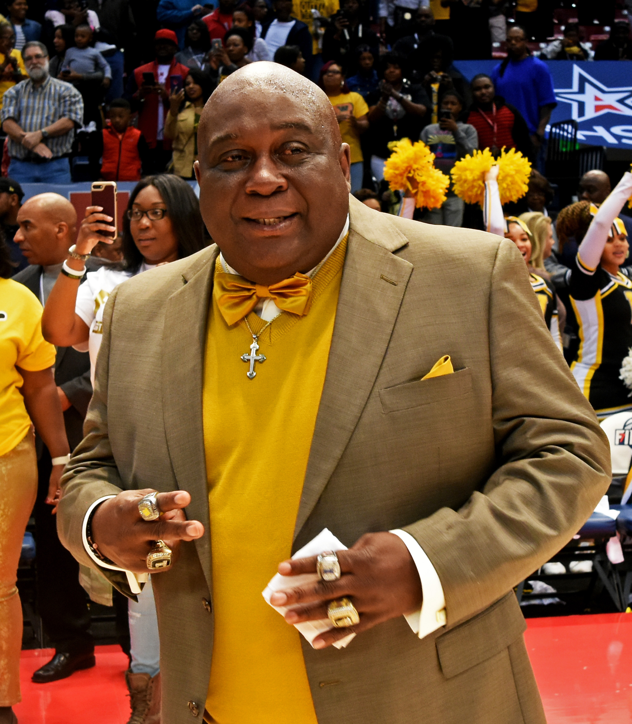 Coach Emanuel Bell led the Wenonah Girls' High School basketball to the Class 5A state basketball title for the fourth straight year in 2017. Coach Bell is battling lung cancer. (Solomon Crenshaw Jr./For The Birmingham Times).
