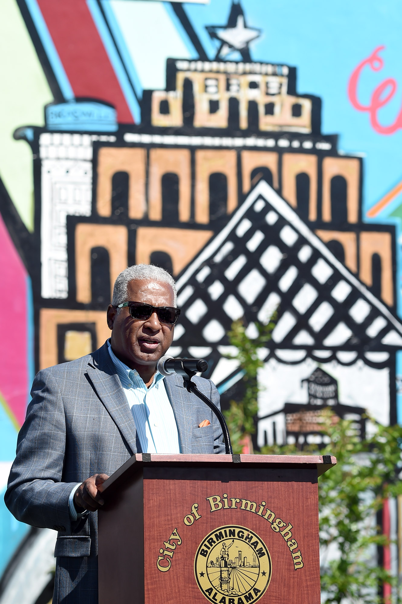 Birmingham Mayor William Bell speaks during a ceremony in Birmingham, Ala., Saturday, May 6, 2017.  (Photo by Mark Almond)