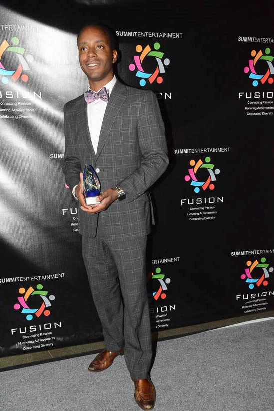 Ronnie O'Brien Rice accepts the Innovator Award for the Alexander Shunnarah Law Firm during the Birmingham Fusion Awards at the Birmingham-Jefferson Convention Complex. (Stephonia Taylor McLinn photo.)