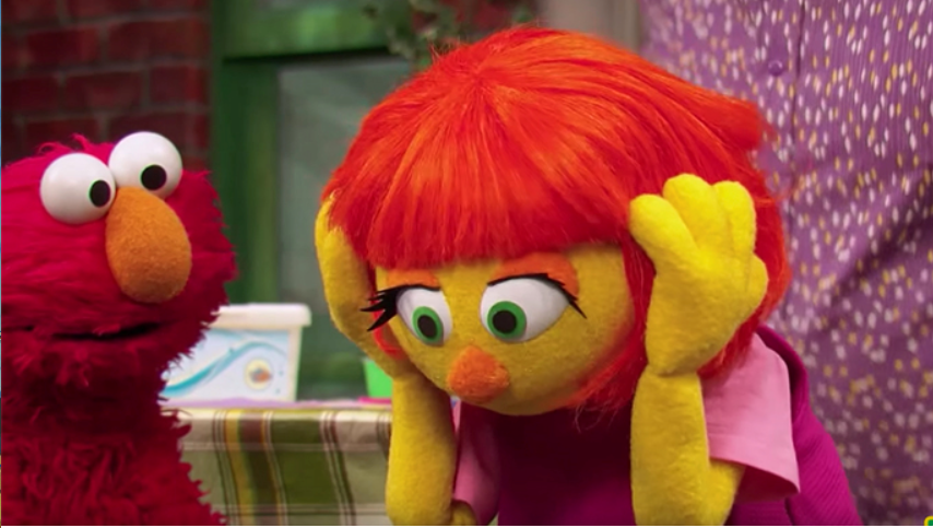 Julia made her debut on Sesame Street in April in an episode about autism acceptance. (autismspeaks.org).