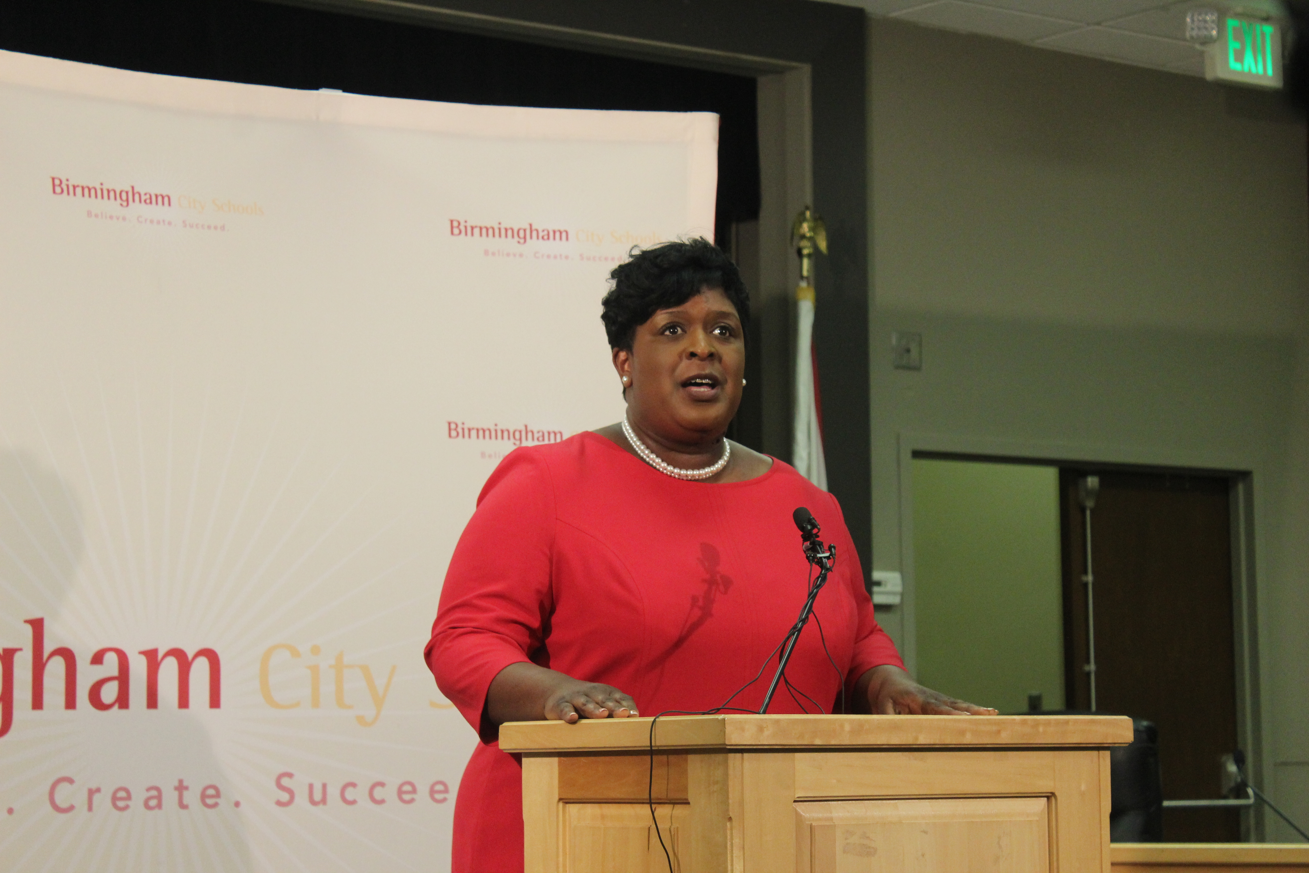 Dr. Lisa Herring said she is aware of the history of Birmingham City Schools, and she is hoping to form positive relationships with the school board. (Ariel Worthy/The Birmingham Times)