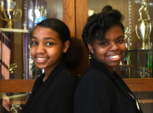 Brooklin Ballard (left) and Shae Thomas, juniors at Ramsay High School, will compete in the 2017 National Speech and Debate Tournament next month in Birmingham. (Solomon Crenshaw Jr./For The Birmingham Times).