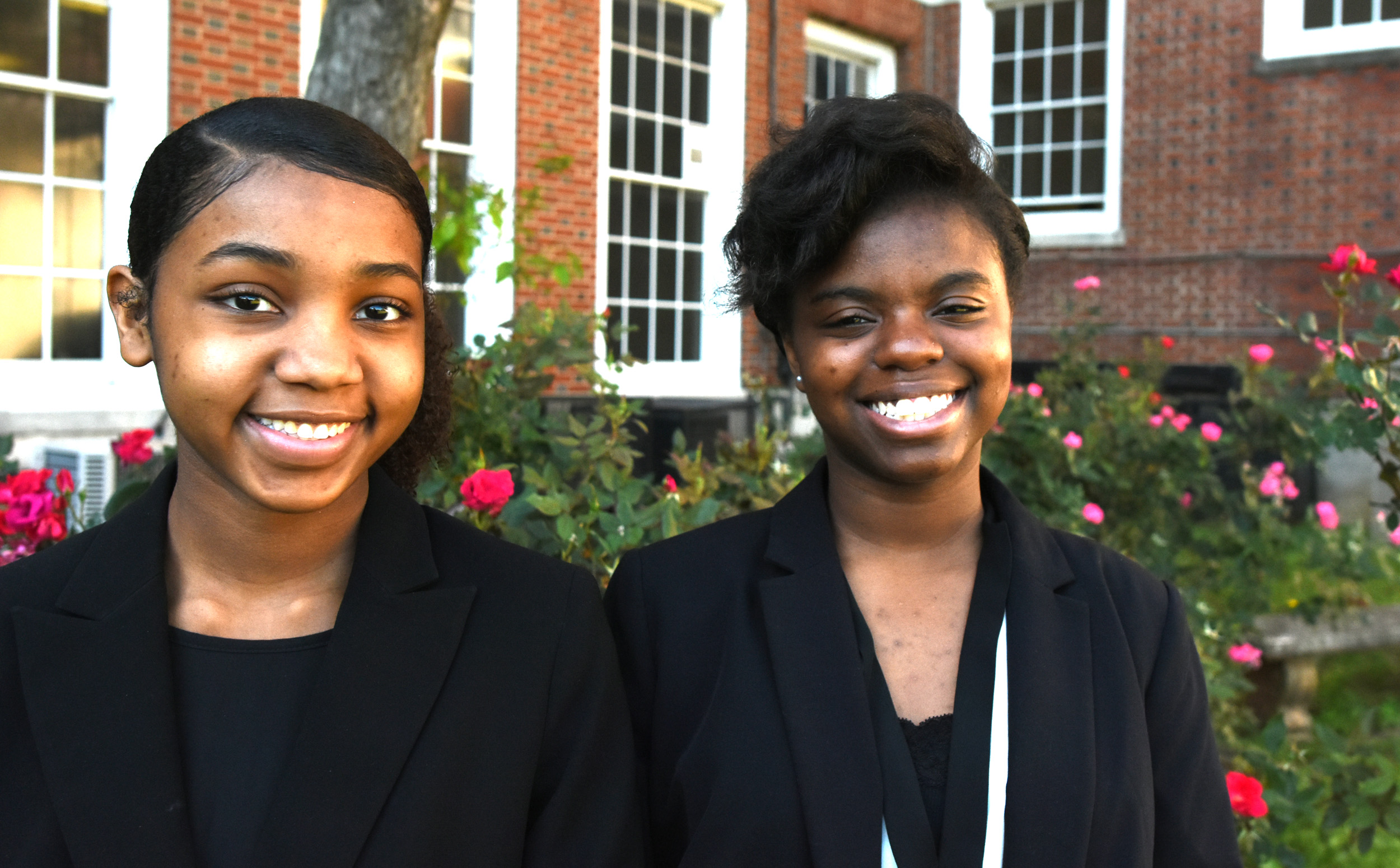 Shae Thomas (left) and Brooklin Ballard, juniors at Ramsay High School, will compete in the 2017 National Speech and Debate Tournament next month in Birmingham. (Solomon Crenshaw Jr./For The Birmingham Times).