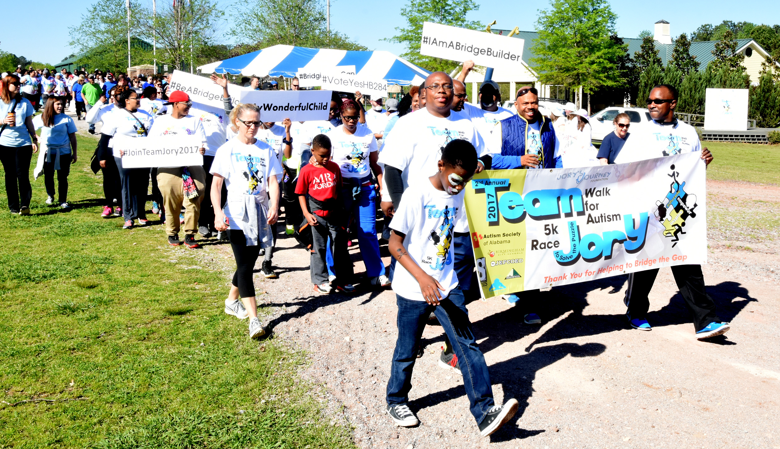The nonprofit Jory's Journey assembled 85 people to take part of Autism Society of Alabama's annual Autism Walk at Veterans Park in Hoover.