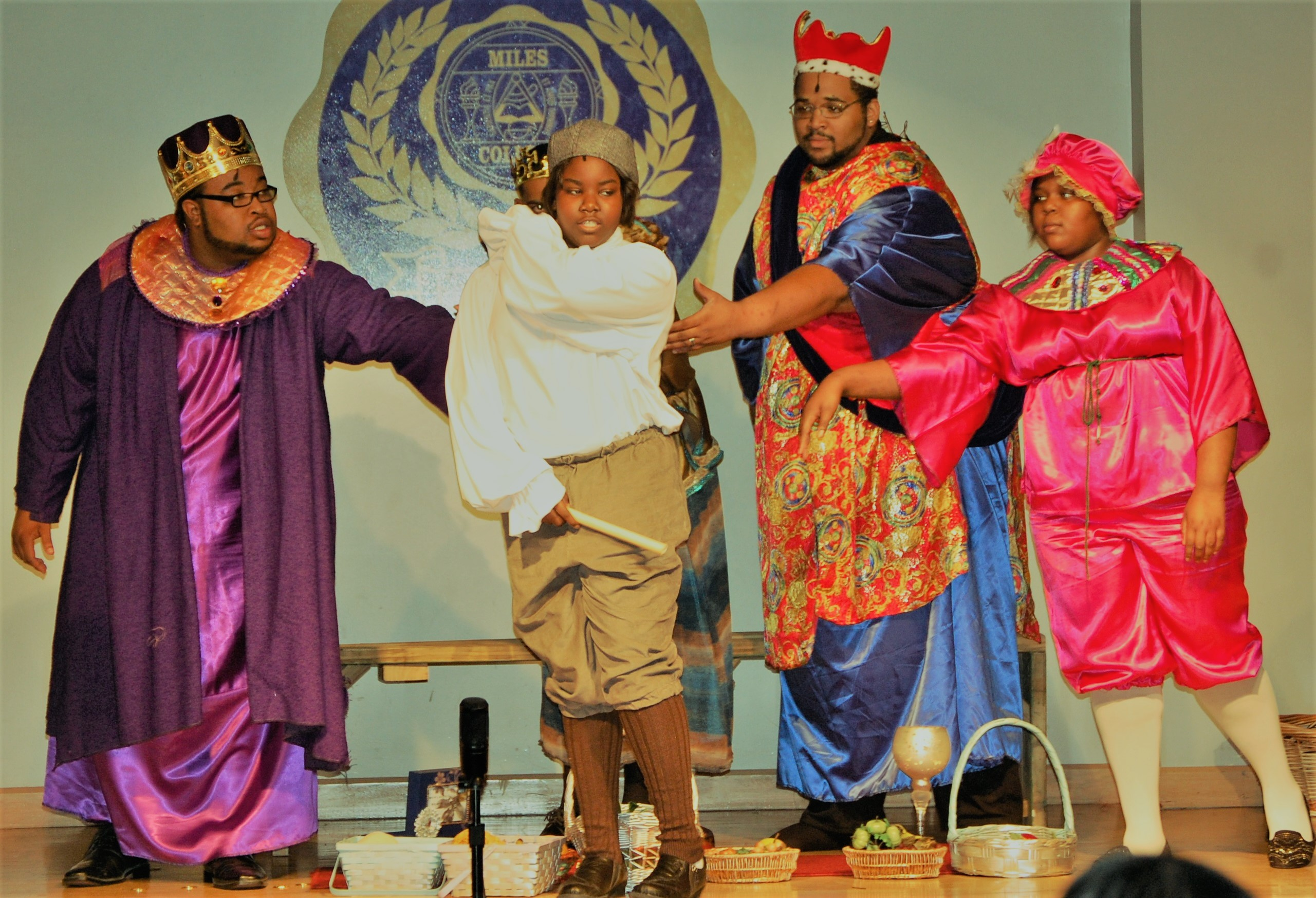 Diamond Sparks (second from left) performs in a production of Amahl and the Night Visitors at Miles College. The multitalented Alabama School of Fine Arts junior is set to sing in an Honors Performance Choir in July in Sydney, Australia.