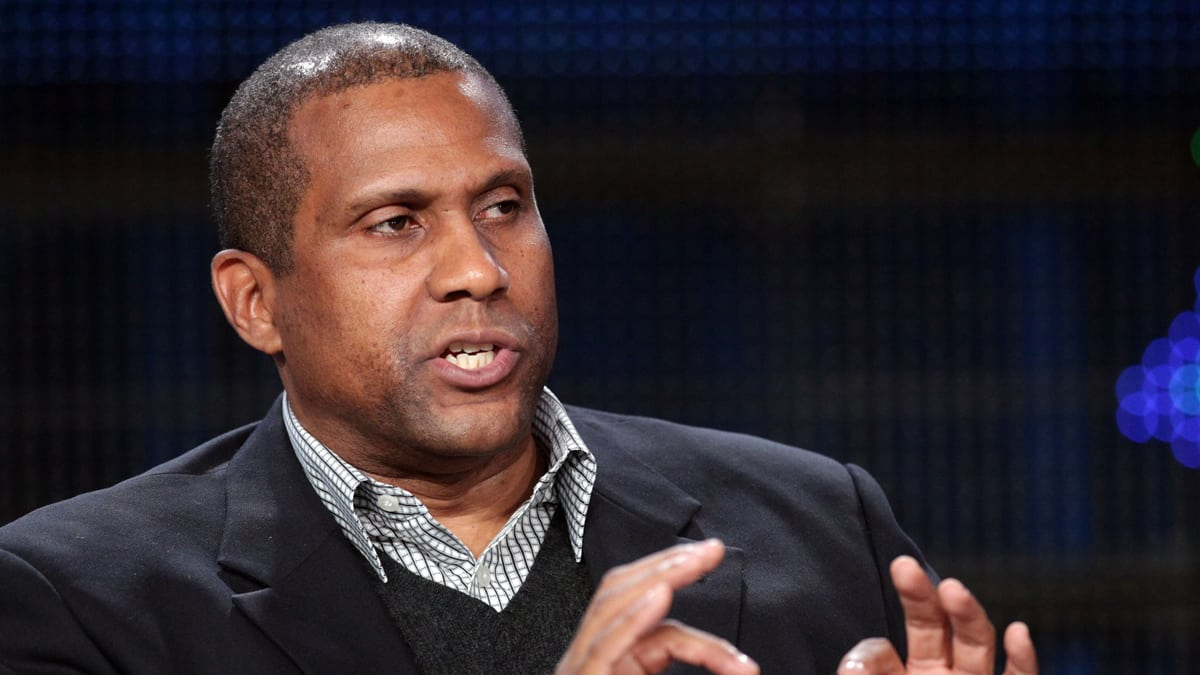 Tavis Smiley hosts a late-night news program, The Tavis Smiley Show, where he interviews various politicians, entertainers, and television personalities conferring thought provoking topics and discussions. (Frederick M. Brown / Getty Images)