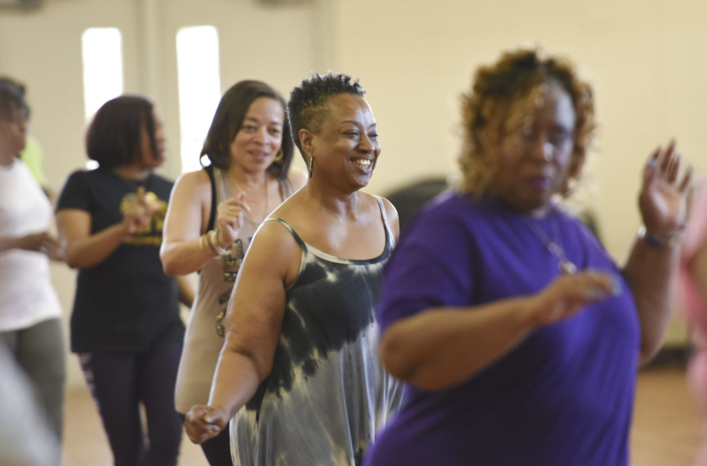 Bridget Agee Swings To The Music. D2 Line Dancing By Desi Keith Nourishes  The Mind, Body And Spirit. (Frank Couch, For The Birmingham Times)