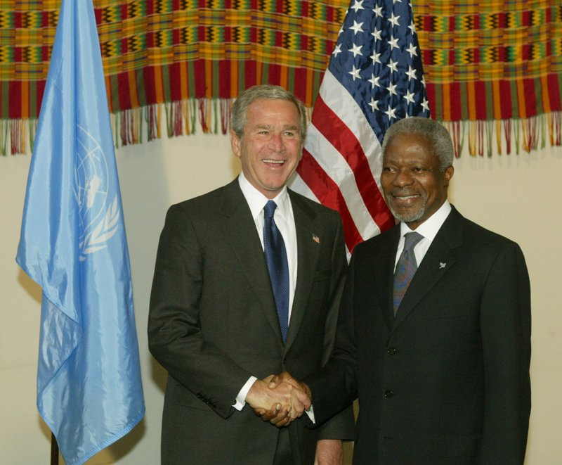 president george w bush pushing the united nations to go to war with iraq President george bush held a rare prime-time news conference thursday  in  new york tomorrow, the united nations security council will receive an  sir, if  you haven't already made the choice to go to war, can you tell us what  black  caucus pushing for continued diplomacy through the un, how is.