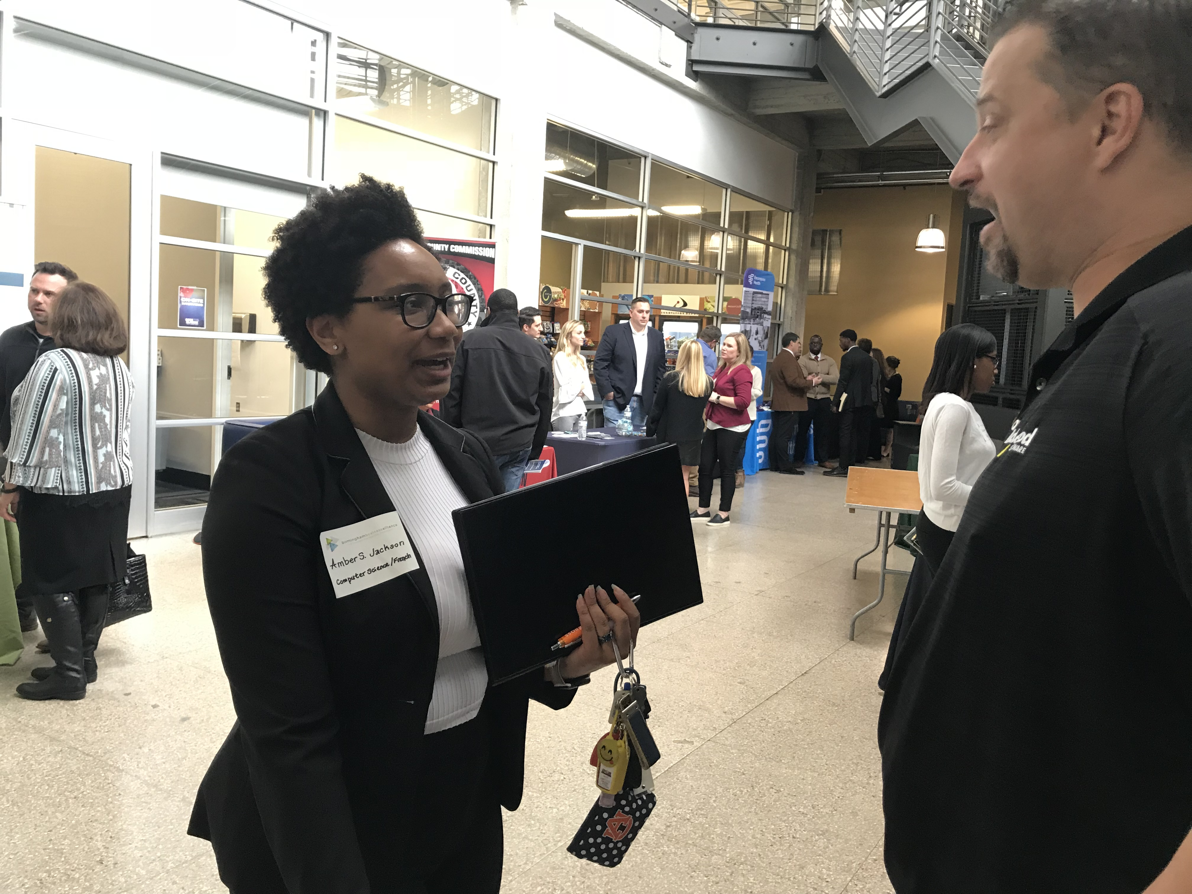 Hbcu Students Network With Area Businesses During Classic