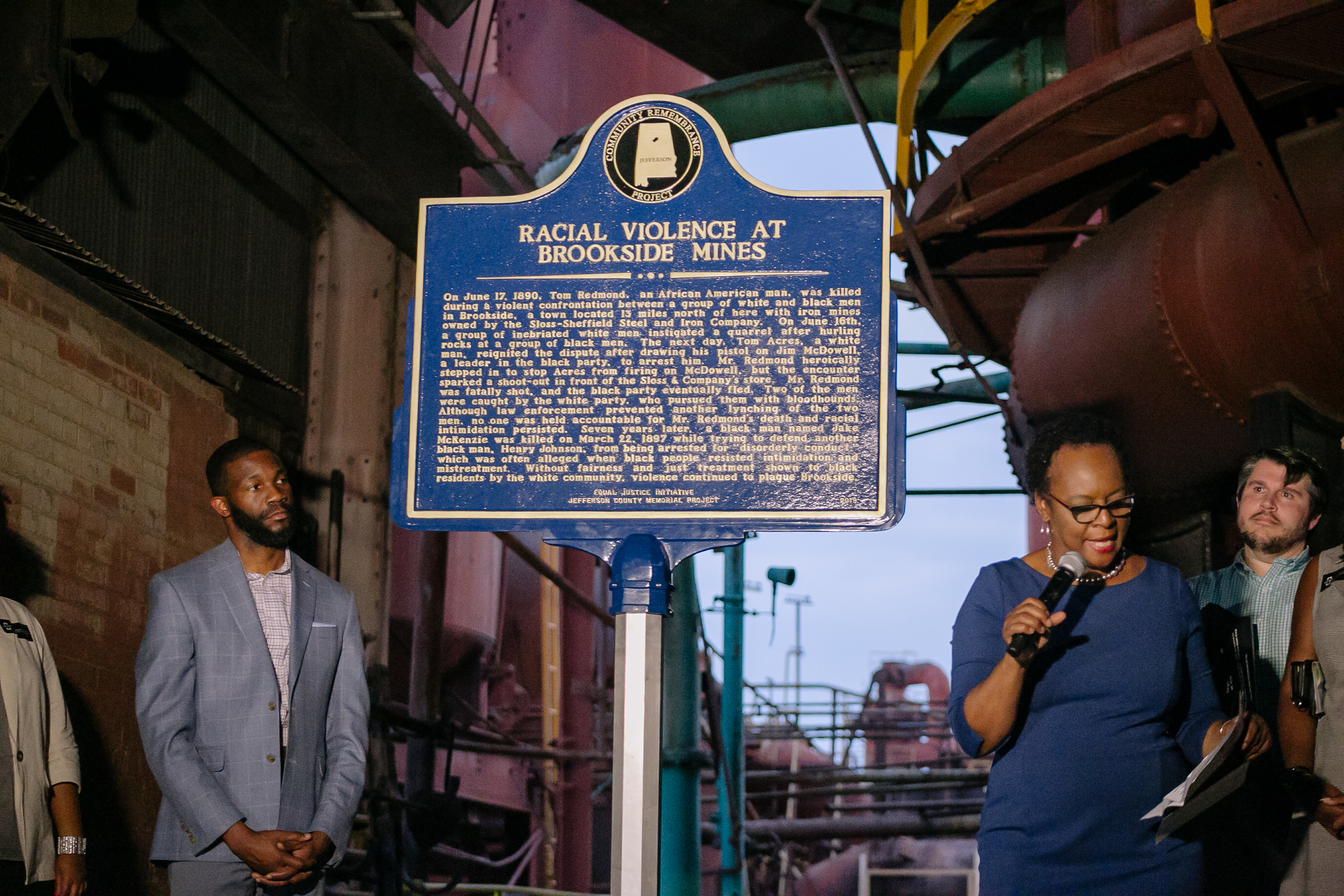 Birmingham Unveils First Historical Lynching Marker at Sloss Furnaces