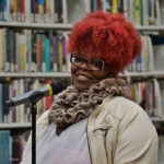 Bards poet Blaque Diamond performs at All Star Show. (Provided photo)