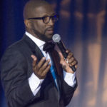 Rickey Smiley, the 2017 Sickle Cell Gala host and syndicated comedian, delivers an emotional concluding speech about his family's ties to the incurable disease and the importance of finding a cure. (Reginald Allen, special to The Times)